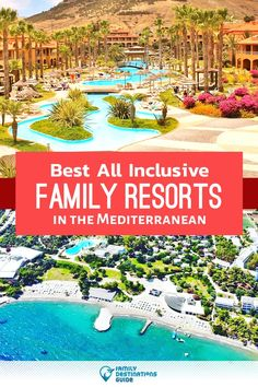 Want ideas for a family vacation to the Mediterranean? We're FamilyDestinationsGuide, and we're here to help: Discover the Mediterranean's best all-inclusive resorts for families - so you get memories that last a lifetime! Best Family Resorts, All Inclusive Family Resorts, Hotels And Resorts, Kid Friendly Resorts, Europe Travel Guide, Traveling Europe, Family Travel, Family Trips, Family Vacations