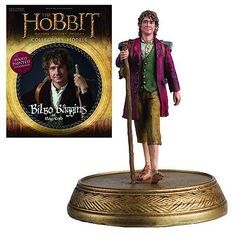 The Hobbit Bilbo Baggins Figure with Collector Magazine #...