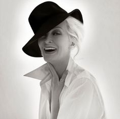Carmen Dell'Orefice ...As a hat lover, that's perfect casual.