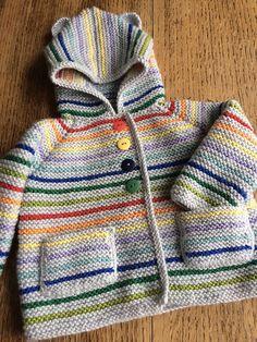 Ravelry: Henry Garter Stitch Jacket pattern by Julia Race de punto bebe Crochet Jacket Pattern, Crochet Baby Jacket, Hoodie Pattern, Knitting For Kids, Baby Knitting Patterns, Baby Patterns, Cardigan Bebe, Baby Cardigan, Ravelry