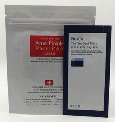 Evening Step 10: Blemish patches, Cosrx Acne Pimple Master Patch and A'Pieu Nonco Tea Tree Spot Patch