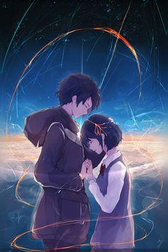 FreeiOS7 - at27-anime-kiminonawa-drawing-art-illustration - http://bit.ly/2cPDgPN - freeios7.com