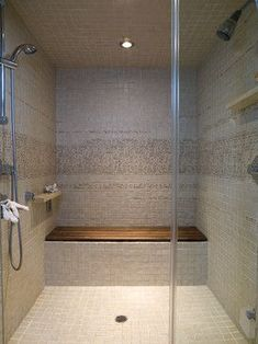Bathroom Steam Shower Slab Benches Design Ideas, Pictures, Remodel, and Decor - page 79 #SteamShowers