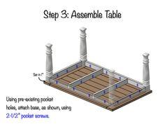 DIY Farmhouse Dining Table Plans - Step 3