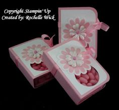 party favors, tic tac holder, gift bags, paper craft, valentine day, gift ideas, pink ribbons, box, party gifts