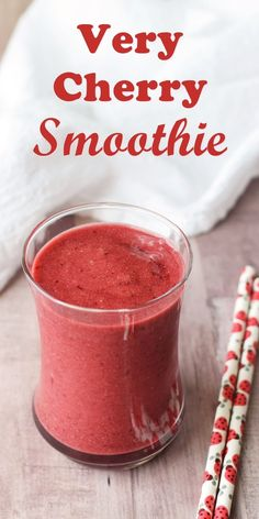 Very Cherry Smoothie Recipe - dairy-free, vegan, paleo, allergy-friendly and no sugar added