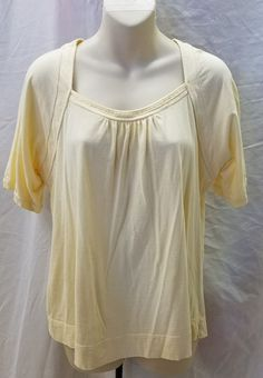 ana Women's Yellow Spring Top Size XL #ana #cotton