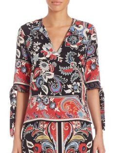 ETRO Silk Paisley-Print Blouse. #etro #cloth #blouse