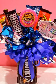 Hershey Chocolate Candy Bouquet  by HollywoodCandyGirls on Etsy, $39.99