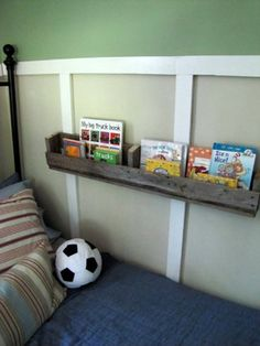 Wood Pallet Design Ideas - DIY Pallet Shelf: Simple, Convenient, Versatile!  Such a simple idea for anywhere you have a spot!