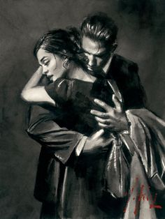 Fabian Perez The Embrace print for sale. Shop for Fabian Perez The Embrace painting and frame at discount price, ships in 24 hours. Fabian Perez, Romantic Paintings, Graphisches Design, Romance Art, Sad Art, Classical Art, Pulp Art, Couple Art, Canvas Art Prints