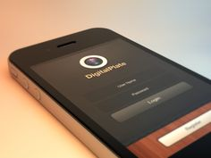 DigalPlate iPhone App GUI - Login designed by Asmir Sinanovic. Connect with them on Dribbble; Iphone Ui, Mobile Ui, Best Web, Ui Design, Collaboration, Shots, Apps, Inspiration, Image