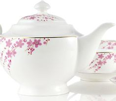 Sakura Petals Bone China Tea Set...they have this at a tea store in the Eastview Mall. It's so pretty!