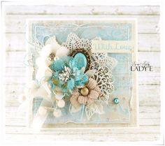 Scrap Art by Lady E: 2 Cards with New Prima Doily / 2 Kartki z Nową Serwetką Primy