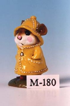 Wee Forest Folk - April Showers - M-180 yellow slicker