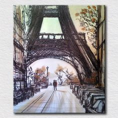 Eiffel Tower pictures reproduction oil painting beautiful canvas wall art for bedroom wall decoration unique gift
