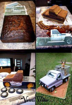 3D car by Verusca Walker - http://pinterest.com/veruscascake/ Tortas Decoradas, paso a paso y mucho mas. GENIAL!!
