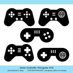 Game Controller SVG Game Controller Monogram SVG Game SVG