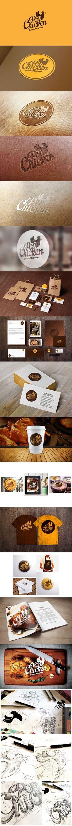 PopChicken Gourmet Express Logo and Branding
