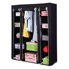 53 Portable Closet Wardrobe Clothes Rack Storage Organizer With Shelf Black New