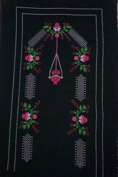 This Pin was discovered by Kad Embroidered Kurti, Embroidered Flowers, Dancing Animals, Folk Fashion, Victorian Art, Printed Bags, Unique Home Decor, Favorite Holiday, Hand Embroidery