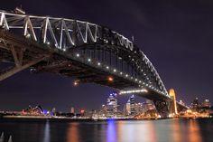 Sydney, the world famous harbor city of Australia is the capital of New South Wales. Harbor City, Harbor Bridge, Sydney Harbour Bridge, Coast Australia, Visit Australia, Cairns, Australia Tourist Attractions, Scuba Diving Australia, Sydney Skyline