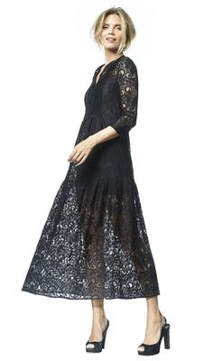 Philomene - black - Lace overlay dress   LaDress