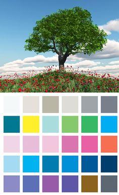 Les couleurs : la méthode saisonnière. - Mademoiselle Grenade