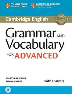 Grammar and Vocabulary for Advanced Book with Answers and Audio downloadable (Cambridge...
