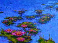 Painting - Joyful State - Modern Impressionistic Art - Palette Knife Landscape Painting by Patricia Awapara , Canvas Prints, Framed Prints, Meet The Artist, Impressionist Art, Colorful Paintings, Blue Art, Water Lilies, Landscape Paintings, Art Decor