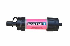 Weighing only 2 oz. and sized to fit in the palm of your hand, the Sawyer Mini water filter is amazing to take camping- and you can use it to drink straight from a stream. Get a two-for special on Papa's Warehouse!