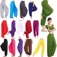 Women Harem Genie Aladdin Causal Gypsy Dance Yoga Pants Trousers Baggy Jumpsuit #Unbranded #CasualPants