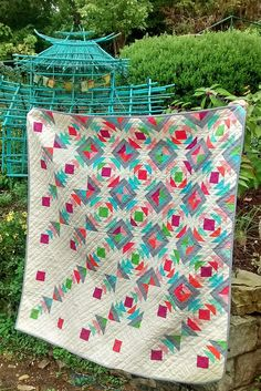 Rain Down quilt by sharon on http://QuiltWithLove.com RJR What Shade Are You blog