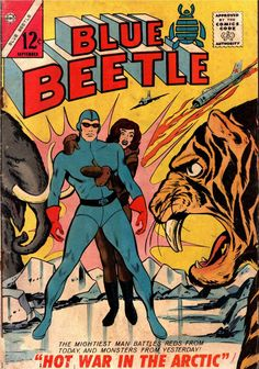 """Read """"Blue Beetle Five Issue Jumbo Comic"""" by Joe Gill available from Rakuten Kobo. The original Blue Beetle was created by Fox Comics and later owned by Charlton Comics. The first Beetle was Dan Garrett,. Comic Book Plus, Comic Book Covers, Comic Books, Old Comics, Vintage Comics, Charlton Comics, Blue Beetle, Silver Age Comics, Classic Comics"""