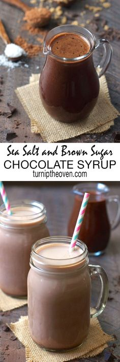 This simple, homemade chocolate syrup uses only all-natural ingredients and is corn syrup-free and vegan! Use it to make the ultimate kid-friendly chocolate milk, drizzle it over ice cream, or use it (Dark Chocolate Shake) Homemade Chocolate Syrup, Chocolate Shake, Real Food Recipes, Dessert Recipes, Vegan Recipes, Smoothies For Kids, Sweet Sauce, Vegetarian Chocolate, Corn Syrup