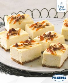 The only thing better than a slice of cheesecake, is having a whole bar of it to yourself. It's especially sweet when we're talking about these Caramel Cheesecake Bars. Better save some room for later…