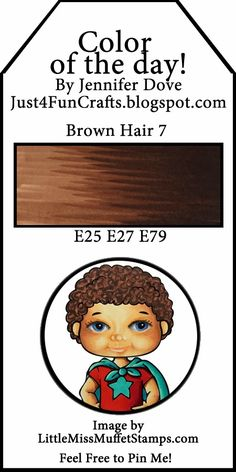 and DoveArt Studios: Brown Hair 7 - Color of the Day 125 Copic Marker Art, Copic Pens, Copic Art, Copic Sketch Markers, Copics, Copic Color Chart, Copic Colors, Copic Markers Tutorial, Spectrum Noir Markers