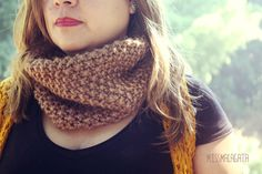 Bufanda-cuello marron / missmalagata - Artesanio