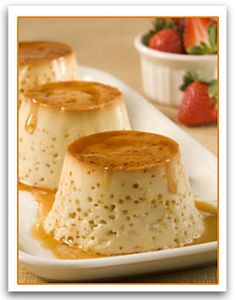 Flan Mexican Dessert Recipe - They don't look good but mm MM! they are delicious.  Unfortunately my caramelized top decided to stay attached to the pan but still tasty when i sprinkled brown sugar on them.