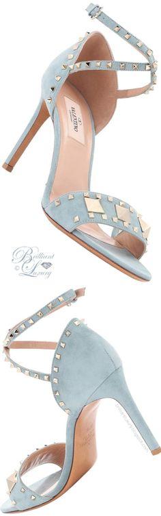 Valentino ♦ #Valentino Garavani #Rockstud #Suede #Sandals