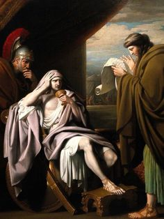 Alexander the Great demonstrating his trust in his physician , Phillip of Acarnania.  Painted c 1771.