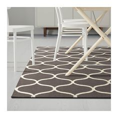 ikea lappljung ruta tapis poils ras 200x200 cm surface plane facile entretenir avec un. Black Bedroom Furniture Sets. Home Design Ideas