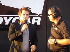 Lee singing the National Anthem at the 2014 MAVTV 500 in Fontana, CA...great picture taken by Jason Rzukidlo AmericaJr.com