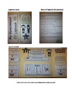 Government Lapbook- Levels and Braches of Government Levels Of Government, Branches Of Government, 4th Grade Social Studies, History Activities, Learning Process, Vocabulary Words, Third Grade, Definitions, Worksheets