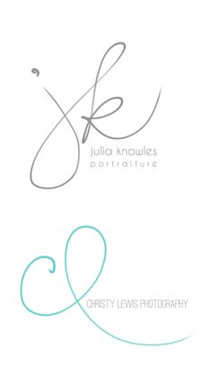 Handwritten Initials, Custom Logo, photoshop brush, transparent .png files photography business. $49.50, via Etsy.