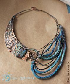 "Necklace, handmade beads.  Fair Masters - handmade ""Dream Aelita"" necklace.   (This woman is a creative genius!)"
