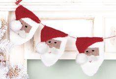 (6) Name: 'Knitting : Santa Bunting