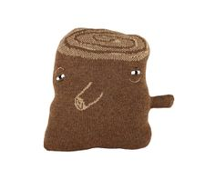 Terry the Tree Trunk  soft knitted pillow toy par ColetteBream, $68.00