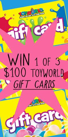 Get in to #Win 1 of 3 $100 #Toyworld #Gift Cards! #competition #toys #christmas Gift Cards, Free Samples, Giveaway, Competition, The 100, Toys, Christmas, Gifts, Gift Vouchers