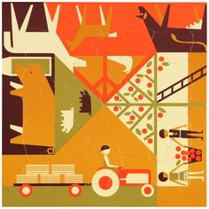 Multi-view puzzle – Farming Designed by Fredun Shapur in 1964